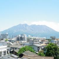 桜島がばっちし見えて眺望良し^^